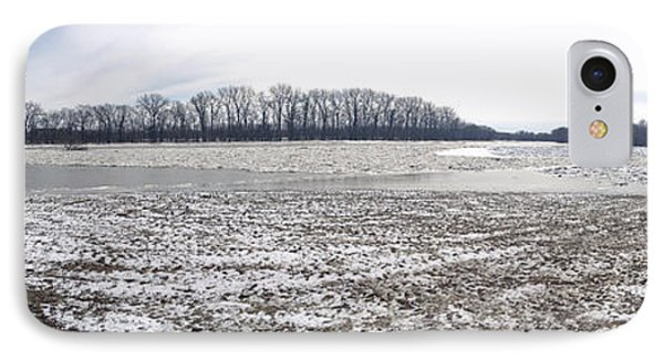 IPhone Case featuring the photograph Wabash River Ice Jam Panorama by Tony Mathews