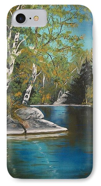 IPhone Case featuring the painting Wabigoon Lake by Sharon Duguay
