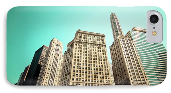 Wacker And Michigan Avenue Chicago IPhone Case by Linda Matlow