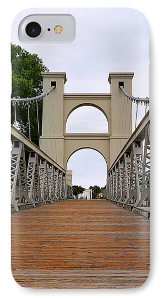 Waco Suspension Bridge IPhone Case by Christine Till