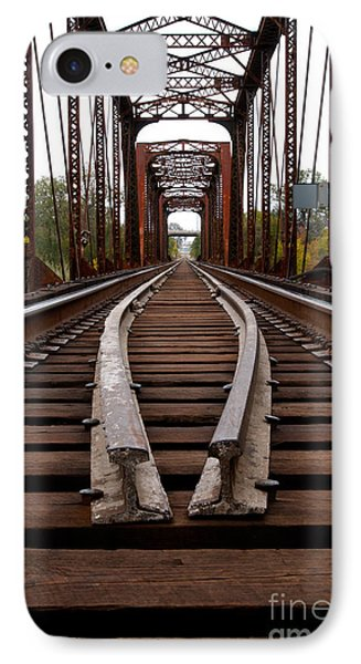 IPhone Case featuring the photograph Waco Tracks by Sherry Davis