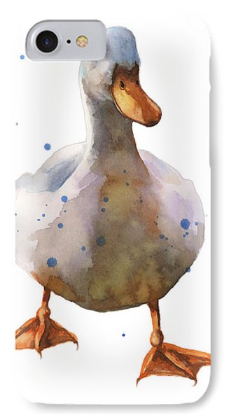 Waddling White Duck IPhone Case