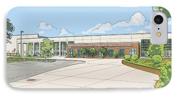 Wade Hampton High School IPhone Case by Greg Joens
