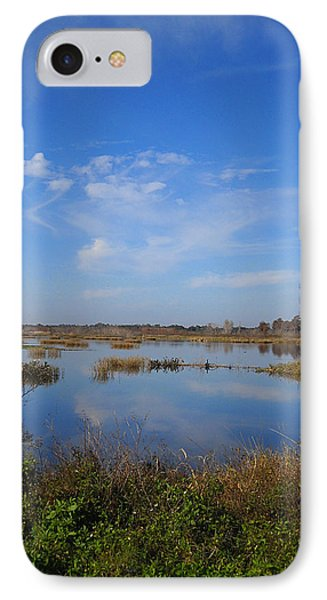 Wading Bird Way 001 IPhone Case by Chris Mercer