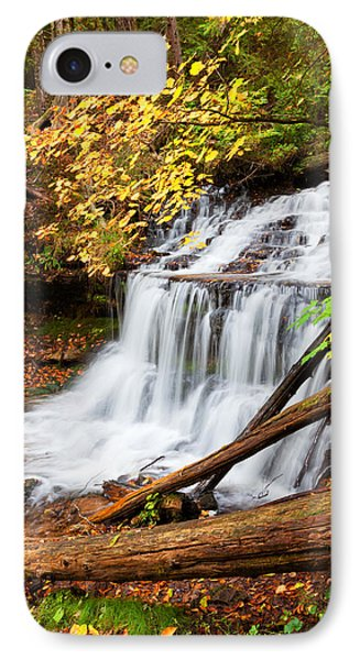 Wagner Falls In Autumn Phone Case by Craig Sterken