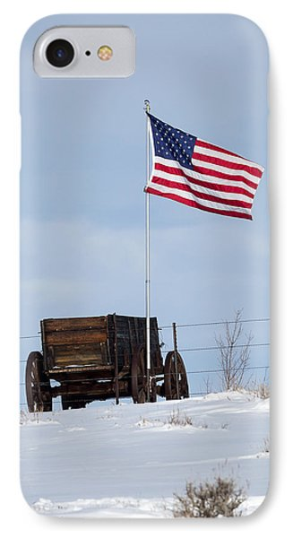 Wagon And Flag IPhone Case