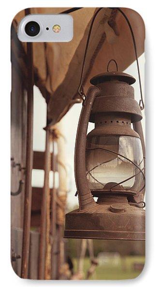 Wagon Lantern Phone Case by Toni Hopper