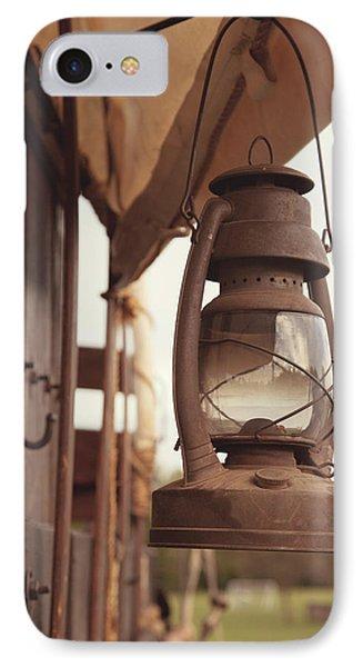 Wagon Lantern IPhone Case by Toni Hopper