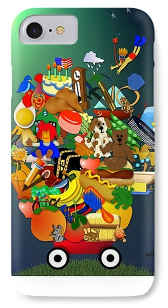 Wagon Of Toys Phone Case by Bob Winberry