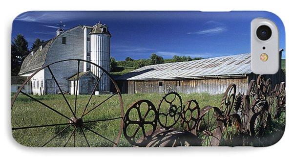 Wagon Wheel Barn IPhone Case by Latah Trail Foundation