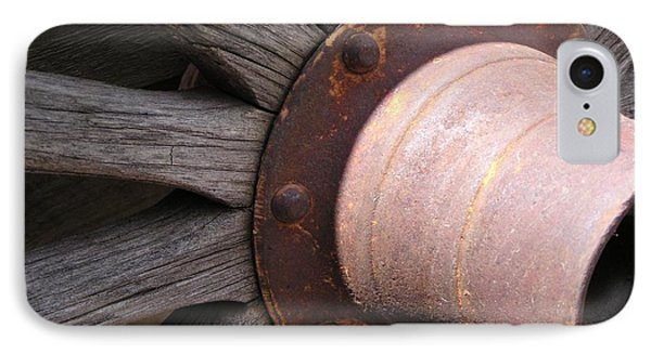 IPhone Case featuring the photograph Wagon Wheel by Diane Alexander