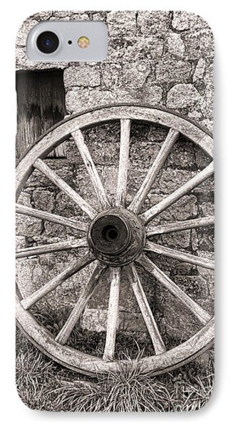 Wagon Wheel IPhone Case by Olivier Le Queinec