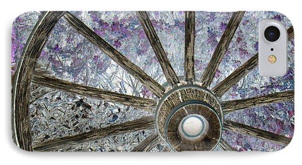 Wagon Wheel Study 1 IPhone Case by Sylvia Thornton
