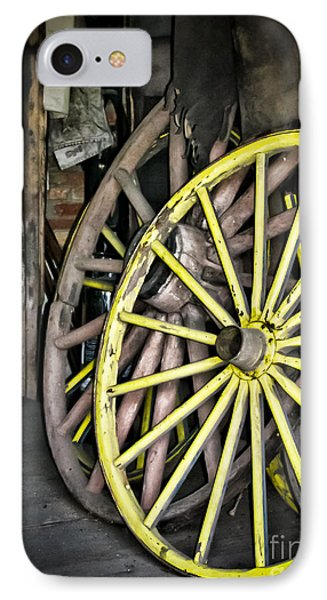 Wagon Wheels Phone Case by Colleen Kammerer