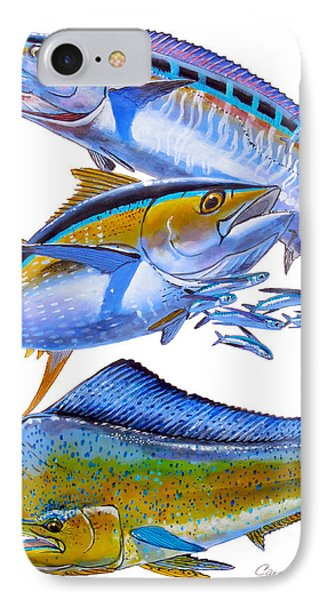 Wahoo Tuna Dolphin Phone Case by Carey Chen