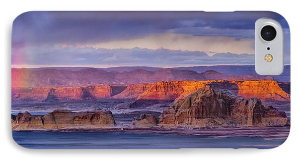 Wahweap Sunset IPhone Case by Rob Travis