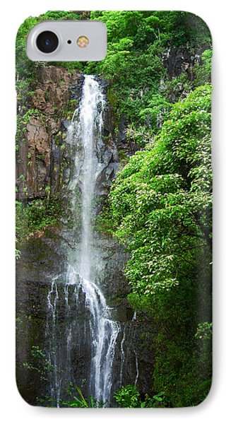 Waikani Falls At Wailua Maui Hawaii IPhone Case by Connie Fox