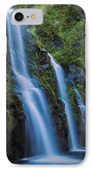 Waikani Falls IPhone Case by Hawaii  Fine Art Photography