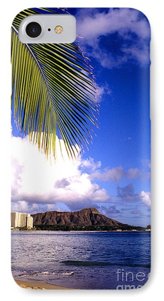 Waikiki Beach Diamond Head IPhone Case by Thomas R Fletcher