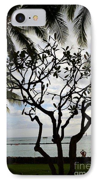 Waikiki Beach Hawaii IPhone Case by Eva Kaufman