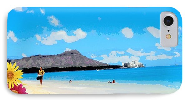 IPhone Case featuring the photograph Waikiki Beach by Mindy Bench