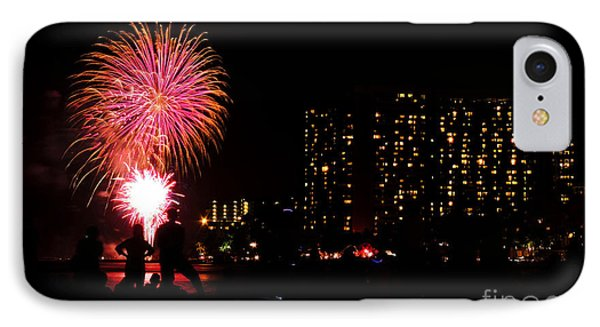 Waikiki Fireworks IPhone Case by Kristine Merc