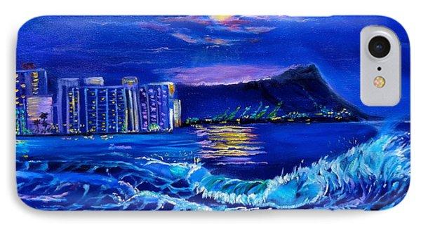 Waikiki Lights IPhone Case by Jenny Lee