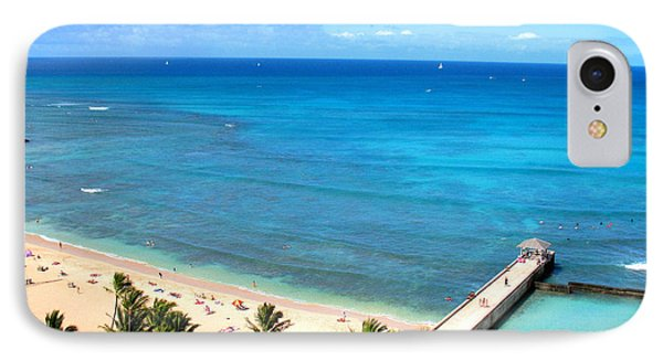 Waikiki Paradise IPhone Case by Kristine Merc