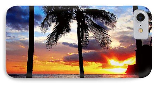 IPhone Case featuring the photograph Waikiki Sunset by Kara  Stewart