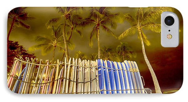 Waikiki Surf Phone Case by Douglas Barnard