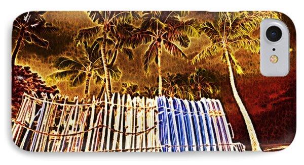 Waikiki Surf- Hawaii Phone Case by Douglas Barnard