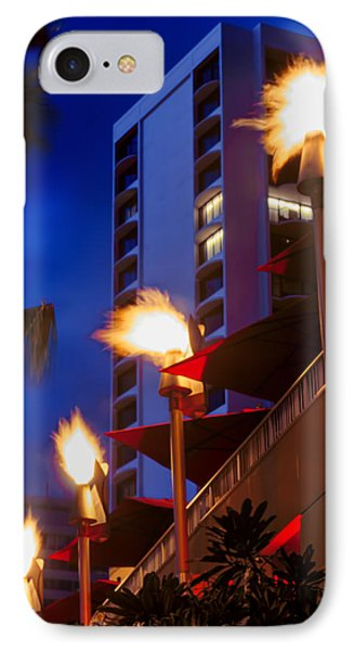 IPhone Case featuring the photograph Waikiki Tiki Torches by Aloha Art