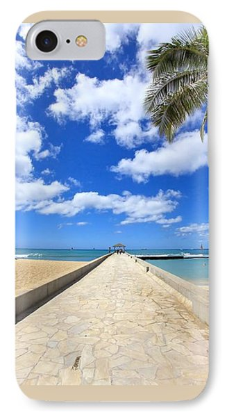 Waikiki Wall Phone Case by DJ Florek
