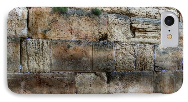 IPhone Case featuring the photograph Wailing Wall In Israel by Doc Braham