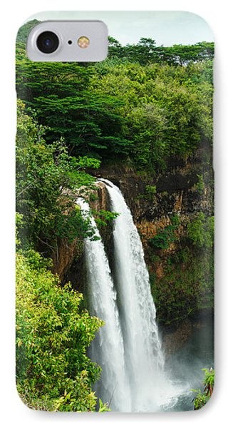 IPhone Case featuring the photograph Wailua Falls Kauai by Photography  By Sai
