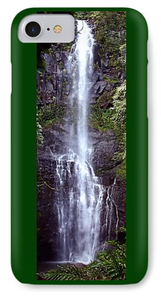 Wailua Falls Maui Hawaii IPhone Case by DJ Florek