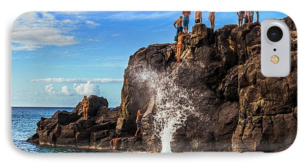 IPhone Case featuring the photograph Waimea Bay Rock Jumpers by Aloha Art