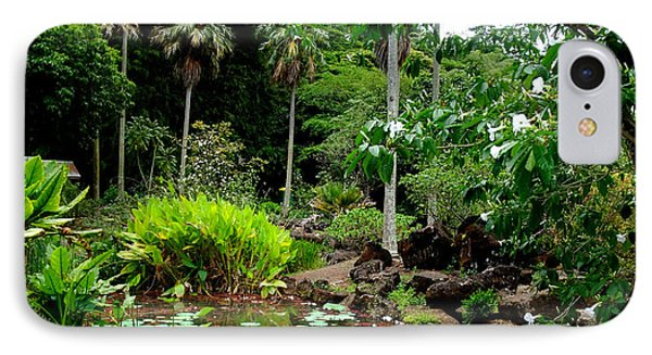 Waimea Valley In The North Shore Of Oahu Hawaii Phone Case by Jim Fitzpatrick