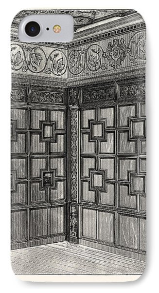 Wainscot And Pargetry, Carbrooke Hall, A Historic House IPhone Case