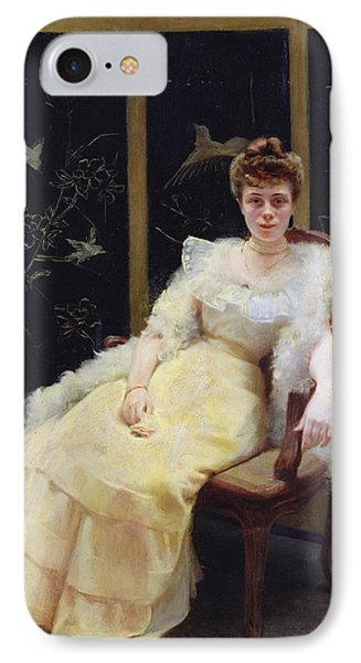 Waiting, 1901 Oil On Canvas IPhone Case by Ernst Philippe Zacharie