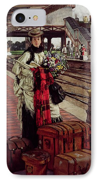 Waiting At The Station, Willesden Junction, C.1874 IPhone Case by James Jacques Joseph Tissot