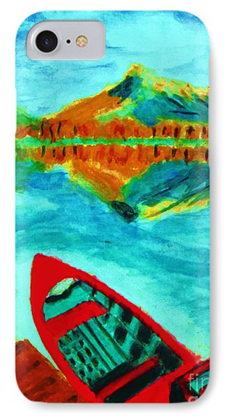 Waiting Boat Of Alberta Canada IPhone Case