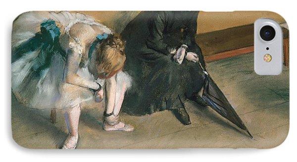 Waiting  IPhone Case by Edgar Degas