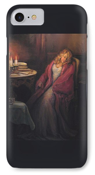 IPhone Case featuring the painting Waiting by Donna Tucker