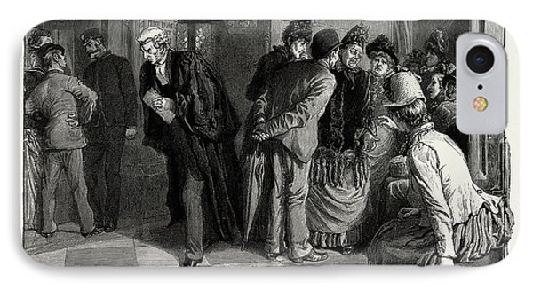 Waiting For Admission To The Divorce Court 1889 IPhone Case by Litz Collection