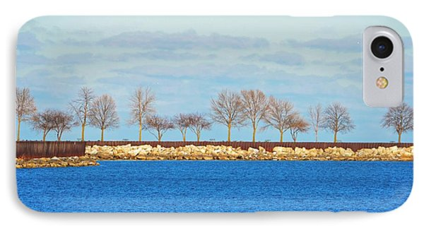 Waiting For Summer - Trees At The Edge Phone Case by Mary Machare