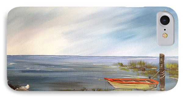 Waiting For The Fisherman IPhone Case by Dorothy Maier