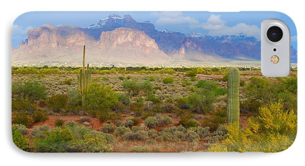 IPhone Case featuring the photograph 16x20 Canvas - Superstition Mountain Light by Tam Ryan