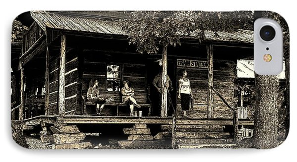 IPhone Case featuring the photograph Waiting For The Train by B Wayne Mullins