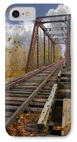Waiting For The Train Phone Case by Debra and Dave Vanderlaan